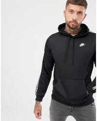 Nike - Felpa nera con nastri e cappuccio AR4914-010 - Lyst