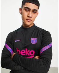 Nike Football Fc Barcelona Strike Drill Top - Black