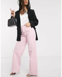 & Other Stories Tommy Organic Cotton Straight Leg Jean - Pink