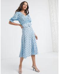 Faithfull The Brand Falda midi luda - Azul