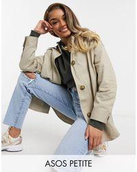 ASOS - ASOS DESIGN Petite - Camicia giacca - Lyst