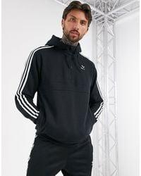 adidas Originals Черный Худи С Молнией И 3 Полосками - Многоцветный