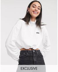 Vans Logo Half Zip Fleece - White