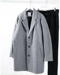 Jack & Jones Серое Пальто Originals Plus-серый