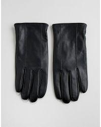 Barneys Originals Barneys Leather Gloves In Black