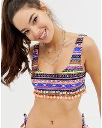 ASOS Top bikini a corpetto - Multicolore