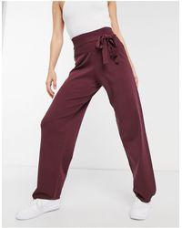 Native Youth Pantaloni a vita alta - Rosso