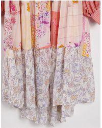 Free People - Рубашка Макси С Цветочным Принтом В Стиле Пэчворк California Soul-многоцветный - Lyst