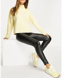 Pull&Bear Faux Leather Skinny Trousers - Black