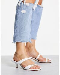 TOPSHOP Ringo Leather Mid Mule - White