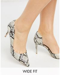Miss Kg Wide Fit High Pointed Court Shoes - Grey