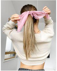 Monki Розовая Шифоновая Резинка Для Волос С Бантом Estrella-розовый Цвет - Многоцветный