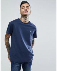Pretty Green - Short Sleeve Jersey T-shirt In Navy - Lyst