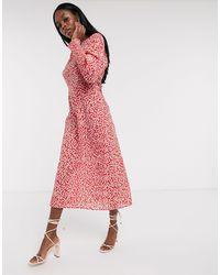 Never Fully Dressed Midaxi-jurk Met Lange Mouwen - Meerkleurig