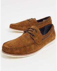 TOPMAN Zapatos náuticos en tostado - Marrón