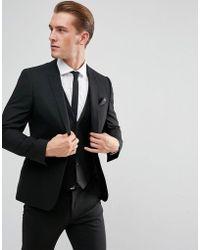 ASOS - Skinny Suit Jacket In Black - Lyst