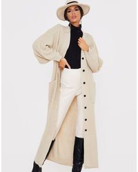 In The Style X Lorna Luxe Long Line Cardi - Natural