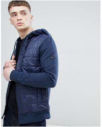 Barbour Темно-синяя Трикотажная Куртка С Капюшоном Baffle-темно-синий