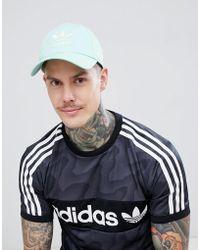 adidas Originals - Trefoil Logo Cap In Green Dj0883 - Lyst