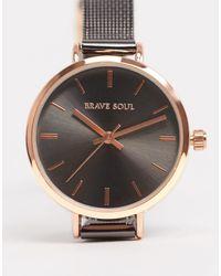 Brave Soul Часы Из Нержавеющей Стали С Сетчатым Ремешком -серебряный - Металлик