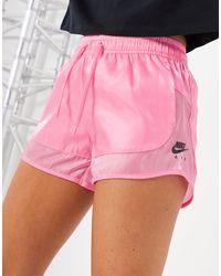 Nike Розовые Полупрозрачные Шорты Air-розовый