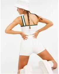 adidas Originals - Кремовые Шорты С Тремя Полосками И Логотипом 'tennis Luxe'-белый - Lyst