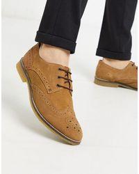 Redfoot Коричневые Замшевые Броги На Шнуровке -светло-коричневый - Многоцветный
