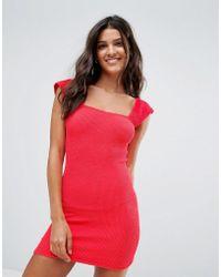 ASOS - Crinkle Tab Shoulder Beach Dress - Lyst