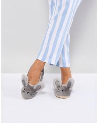 New Look Bunny Ballerina Slipper - Grey