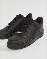 Nike Air Force 1 Low Trainer - Black