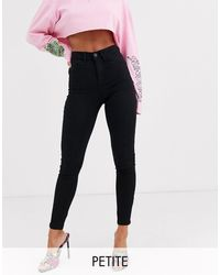 Noisy May Callie High Waist Skinny Jeans - Black