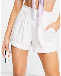 Abercrombie & Fitch Elasticated Waist Short - White