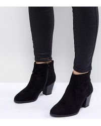 New Look - Suedette Western Boot - Lyst