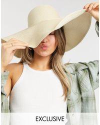 South Beach Бежевая Шляпа С Широкими Полями -нейтральный - Естественный