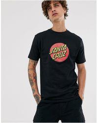 Santa Cruz T-shirt classique à pois - Noir