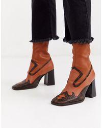 ASOS - Evan - Premium Leren Western Sock Boots - Lyst