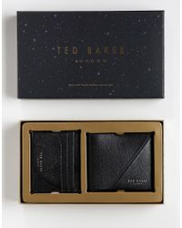 Ted Baker - Piaza Wallet & Card Holder Gift Set - Lyst