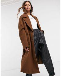 Vero Moda Коричневое Пальто -коричневый