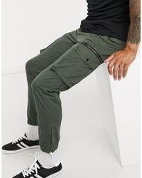 River Island Tapered Cargo Trousers - Green