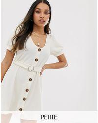 Miss Selfridge Dress With Belt - Natural