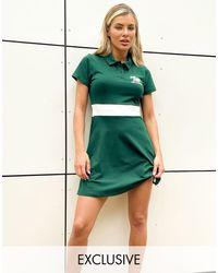 New Balance Palm Tree Logo Tennis Dress - Green