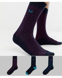 Pringle of Scotland - Strontian Socks 3 Pack - Lyst