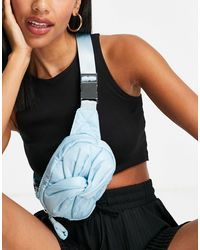 TOPSHOP Polyester Bum Bag With Knot - Blue