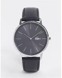 Lacoste – Moon – Leder-Armbanduhr - Schwarz