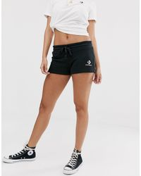 Converse Pantalones cortos negros con logo