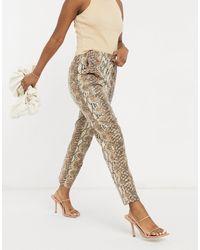 ASOS - Pantaloni con pinces - Lyst