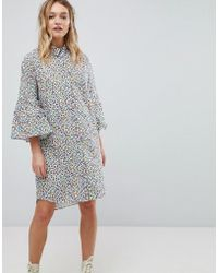 PS by Paul Smith - Ps By Paul Smith Tudor Rose Shirt Dress - Lyst