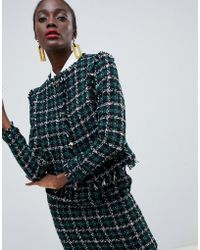 Warehouse - Box Jacket In Tweed Co-ord - Lyst