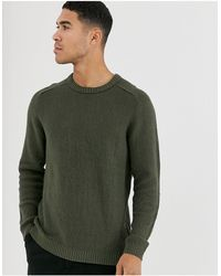 Jack & Jones – Core – er Pullover mit Rundhalsausschnitt - Grün