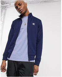 adidas Originals Essentials - Giacca sportiva blu navy con logo a trifoglio